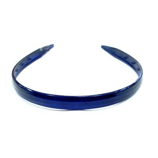 Diadema acetato azul marino estrecha [0]