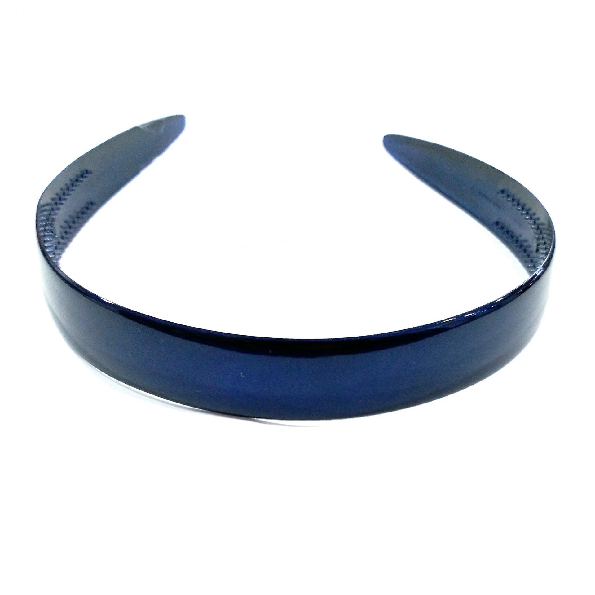 Diadema acetato azul marino