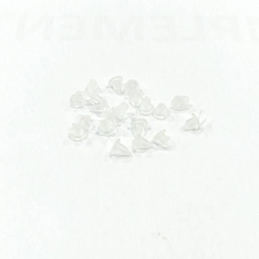 Tuercas pendientes silicona  (pack 10 pares)