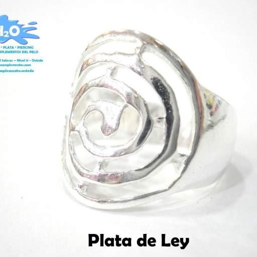 Anillo plata espiral