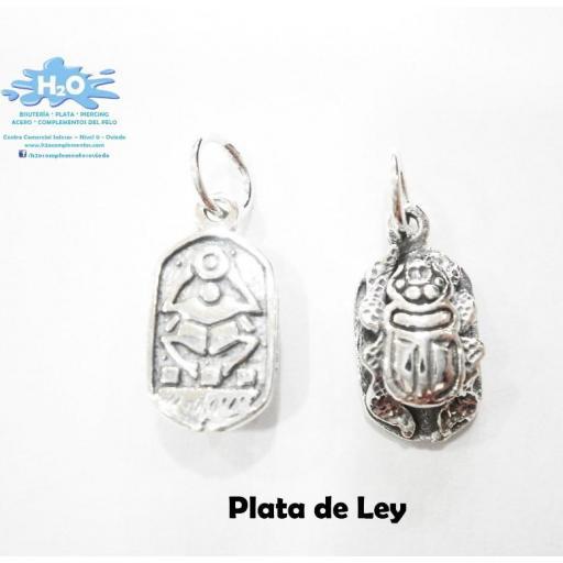 Colgante escarabajo egipcio en plata [1]