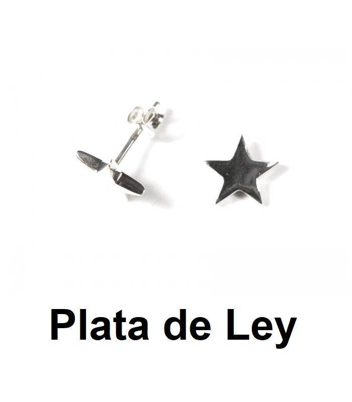 Pendientes estrella mini plata