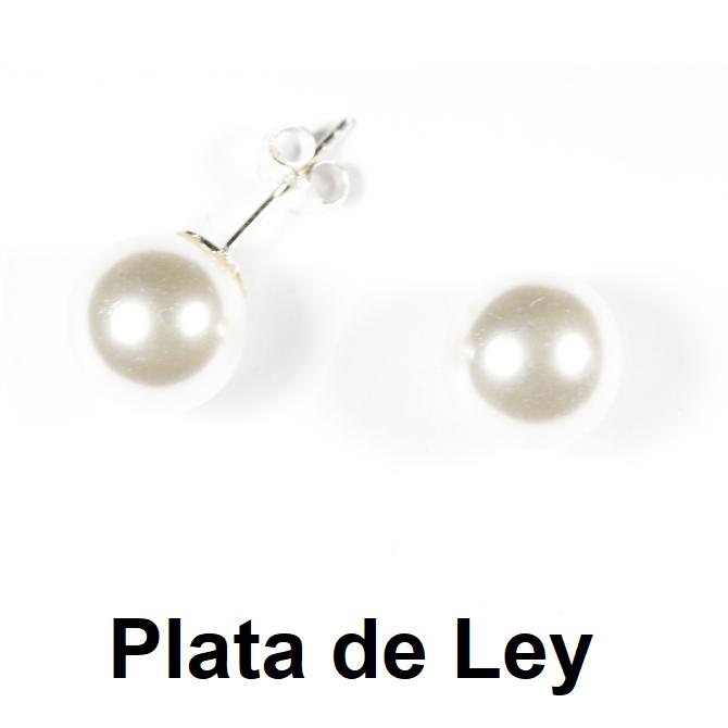 Pendientes perla 12 mm y plata