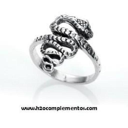 Anillo plata serpiente