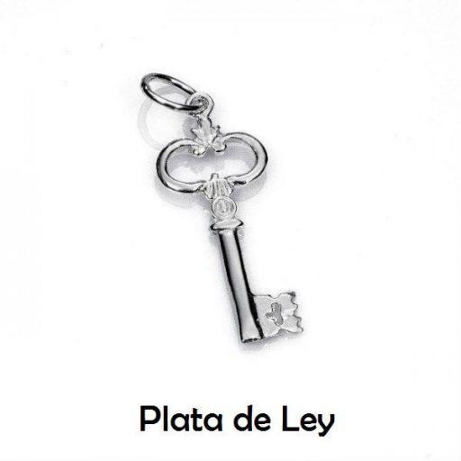 Colgante llave plata
