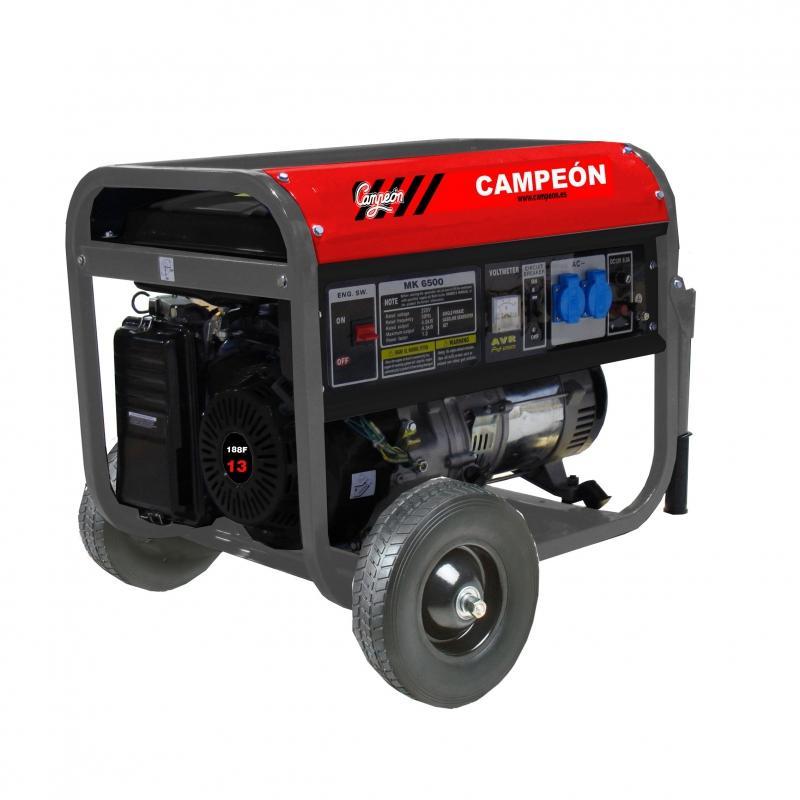 Generador Campeón 4 tiempos trifásico MK6500T 13CV 389cc