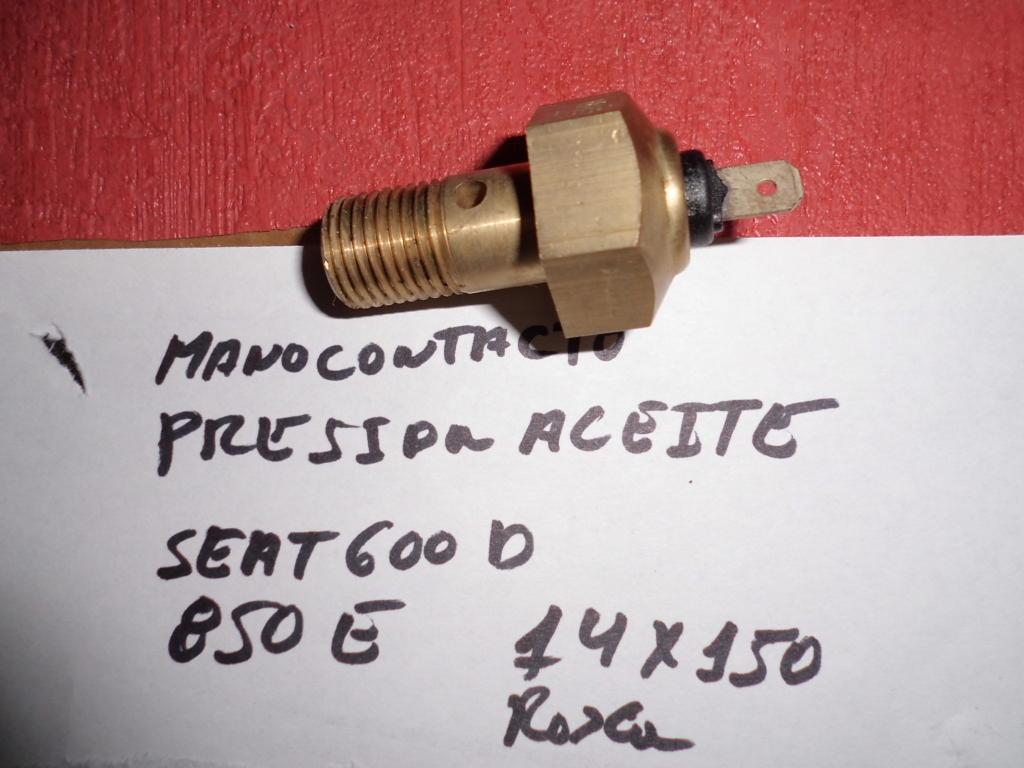 Monocontacto presión de aceite de Seat 850E y Seat 600D