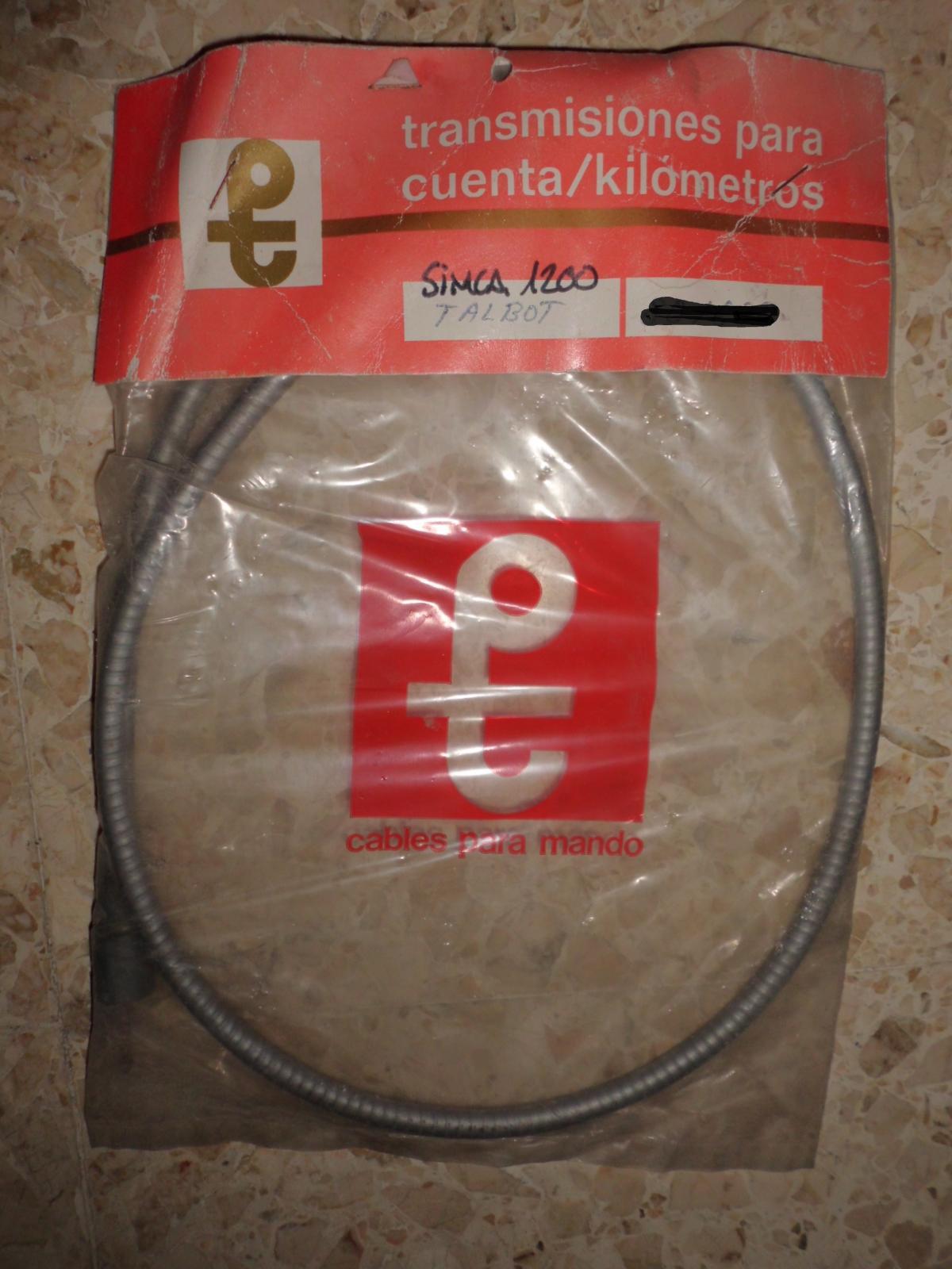 Cable cuentakilómetros de Simca 1200