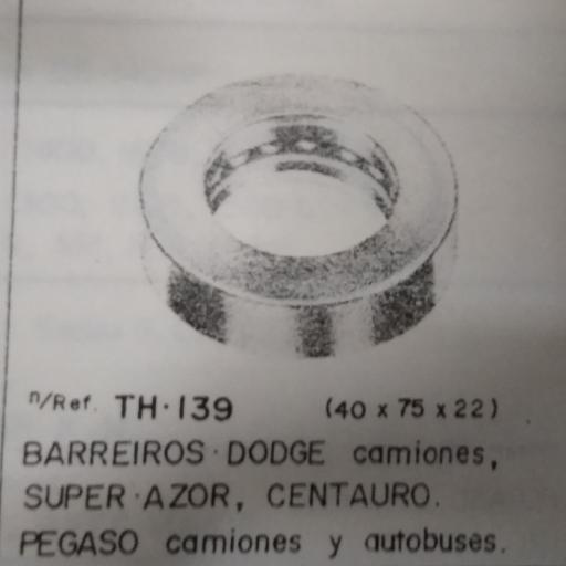 COJINETE EMPUJE BARREIROS PEGASO DODGE