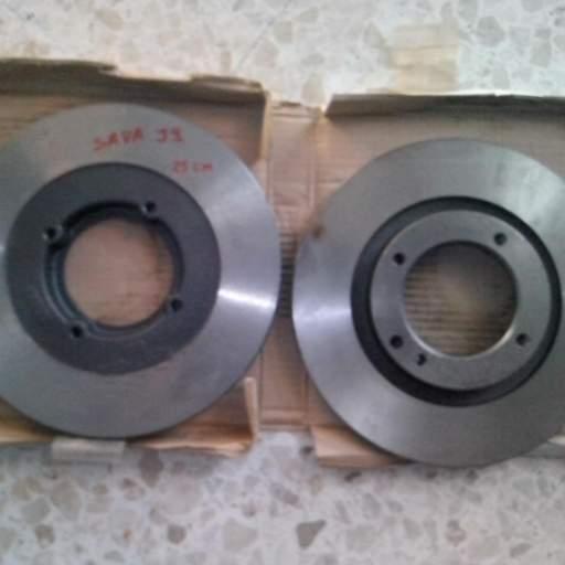 Pareja de discos de freno delanteros de Sava J4