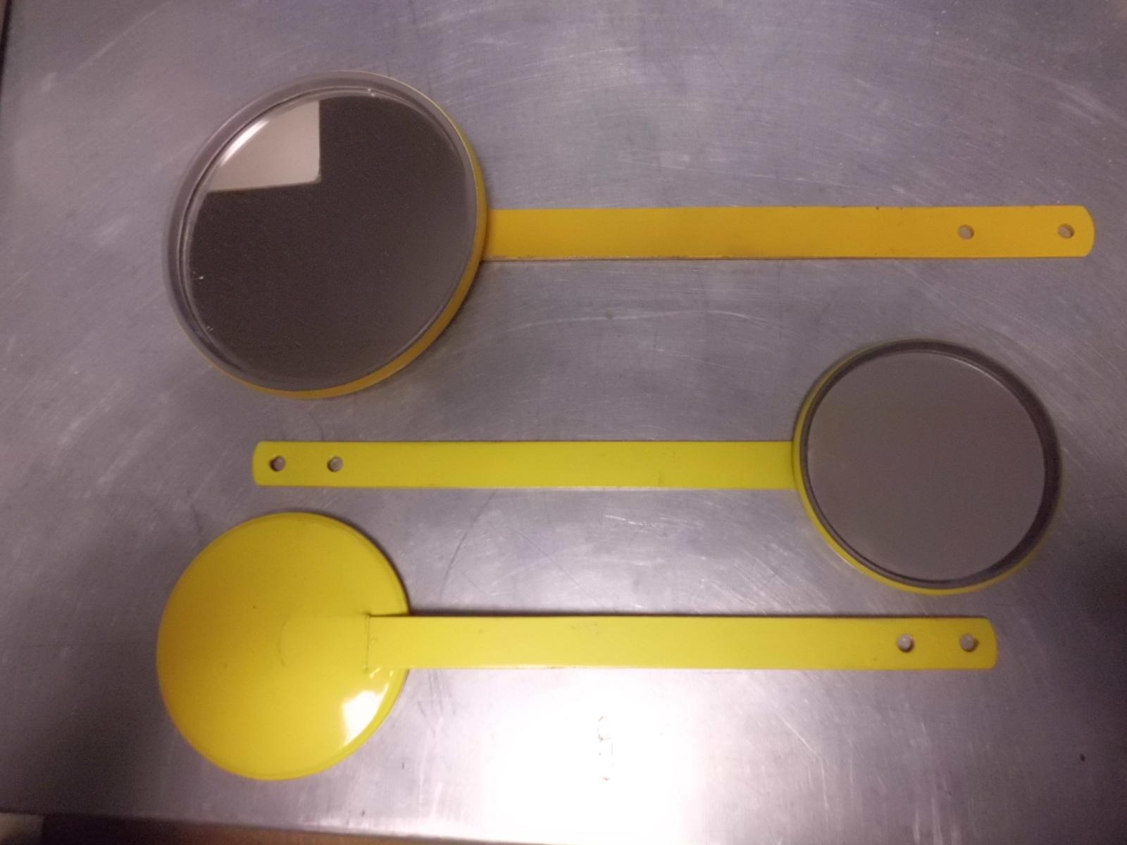 espejos Tipo Raqueta Amarillos o Cromados
