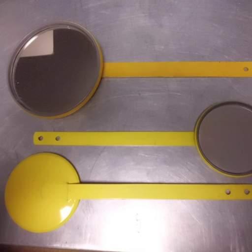 espejos Tipo Raqueta Amarillos o Cromados  [0]