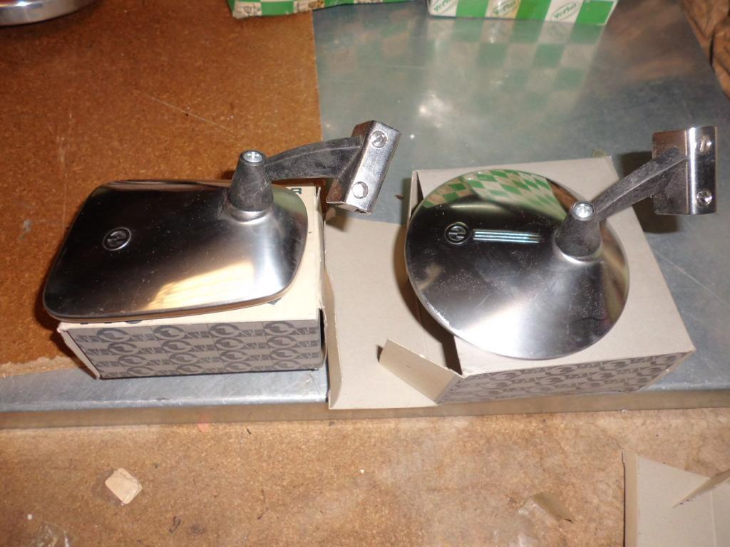 Espejo retrovisor izquierdo cromado de Seat 1500-1400, Renault 8 y Simca 1000