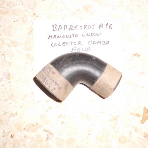 MANGUITO COLECTOR BOMBA AGUA BARREIROS A16