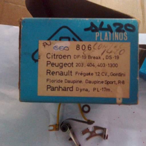 Platinos de Citroen DS19