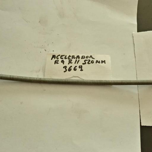 CABLE ACELERADOR RENAULT 9 Y 11 DIESEL