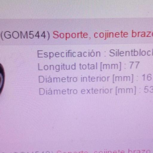 SILEMBLOCK BRAZO SUSPENSION MITSUBISHI MONTERO L200