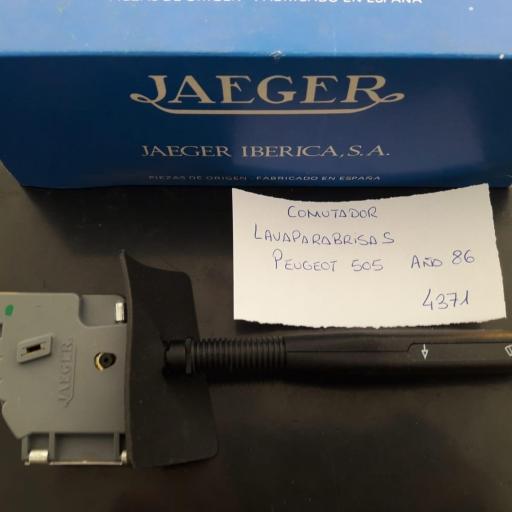 CONMUTADOR LIMPIA PARABRISAS PEUGEOT 505 DEL 86