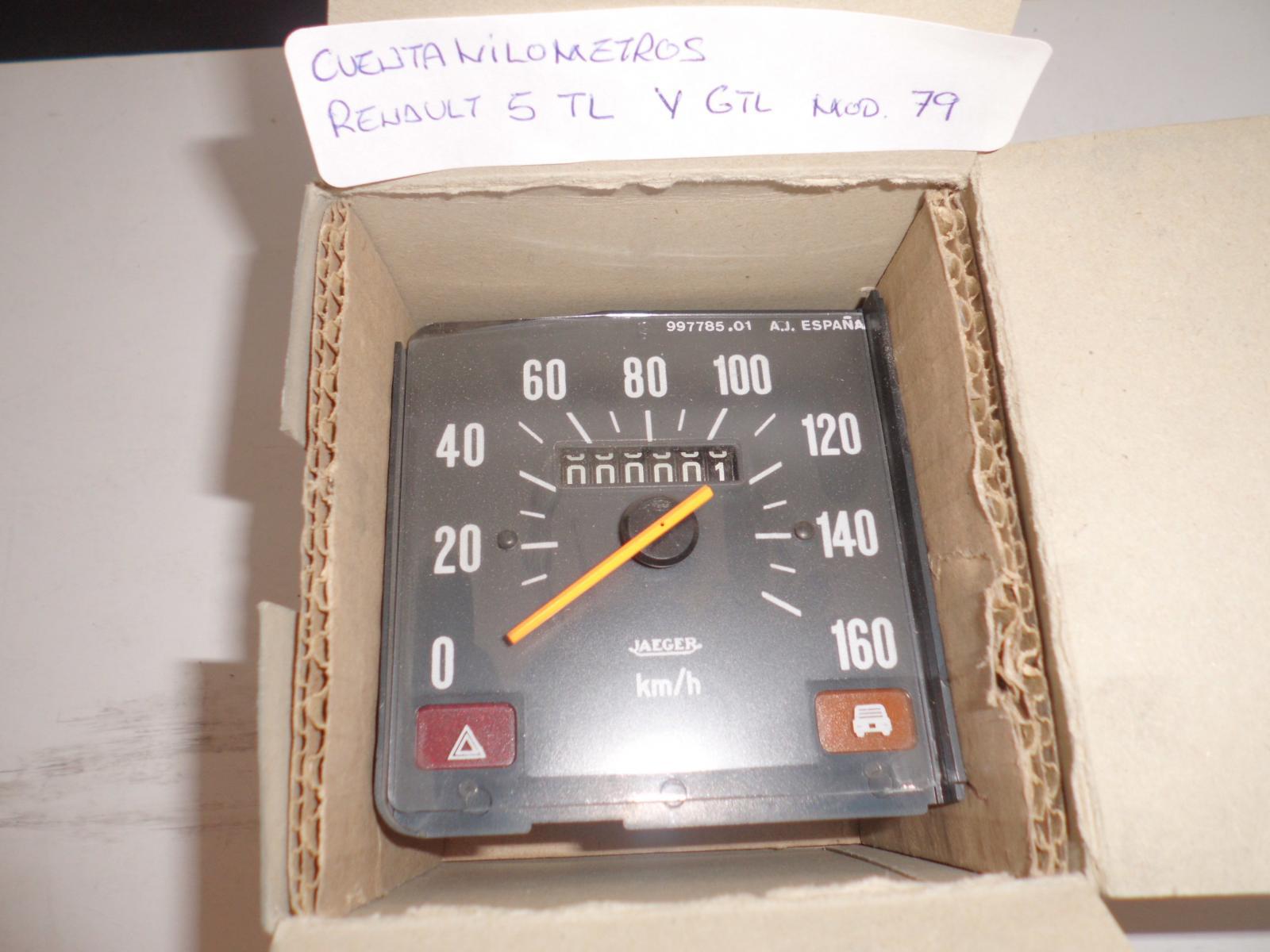 Cuentakilómetros de Renault 5 TL y GTL