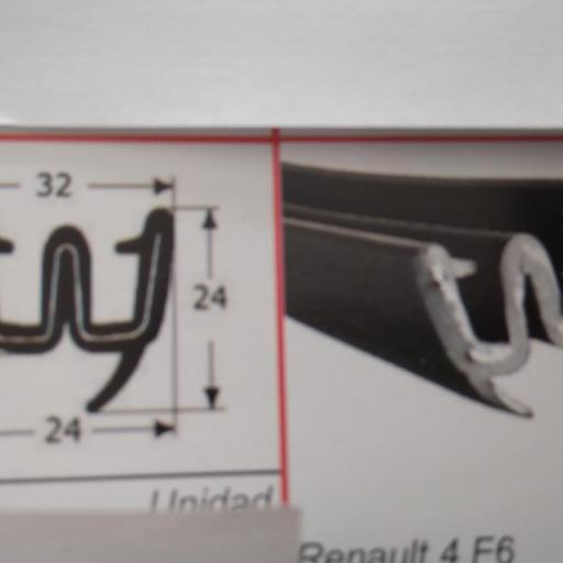 GUIA CRISTAL LATERAL RENAULT 4 F6  SEAT TRANS DYANE