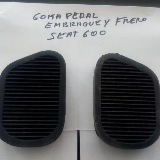 GOMA PEDAL DE FRENO Y EMBRAGUE SEAT 600
