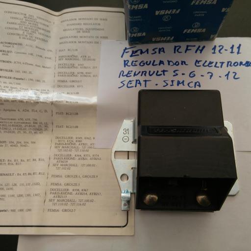 REGULADOR ELECTRONICO FEMSA RFH12-11