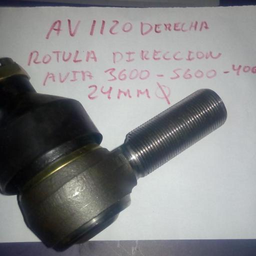 ROTULA DIRECCION DERECHA AVIA 3600-5600 24MM