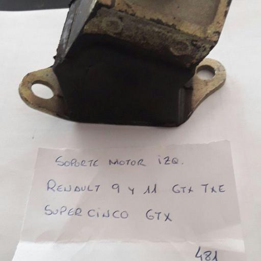 SOPORTE MOTOR IZQUIERDO RENAULT 9 11 Y SUPER 5