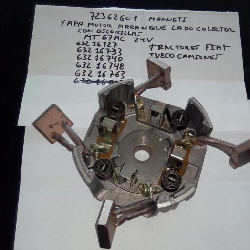 TAPA LADO COLECTOR MOTOR ARRANQUE MAGNETI 72362601