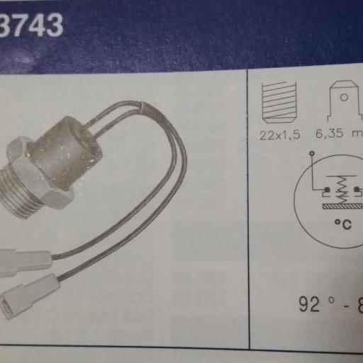 Termocontacto del electroventilador para Seat