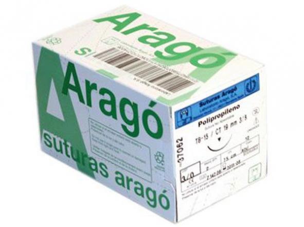 SUTURAS ARAGO  PDO TB-10 6/0 36 UND