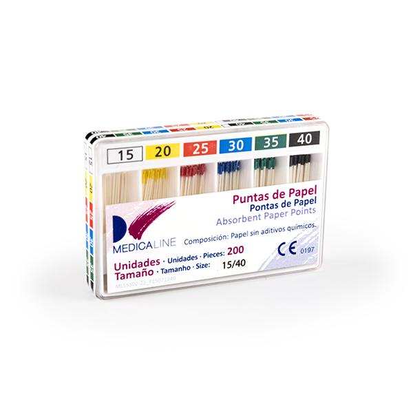 PUNTAS DE PAPEL ISO 200u MEDICALINE
