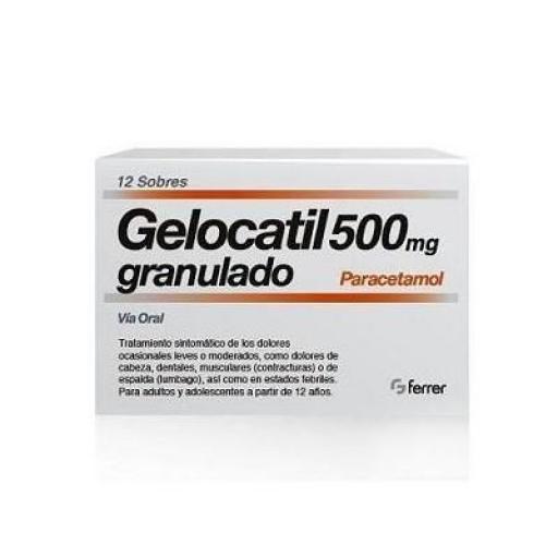 Gelocatil 500 mg granulado 12 sobres