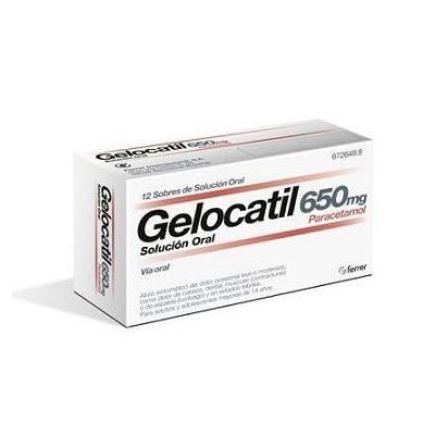 Gelocatil 650 mg 12 sobres solución oral