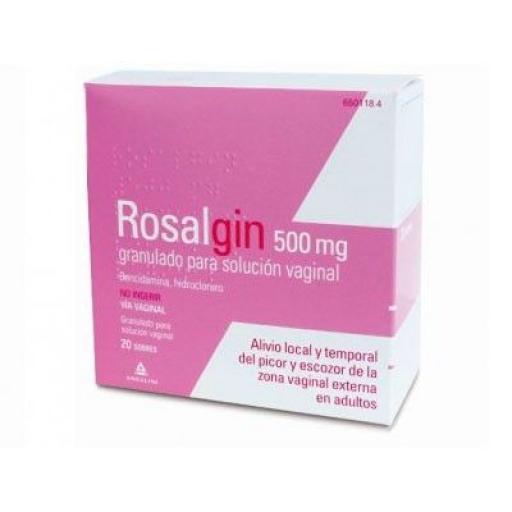 Rosalgin 500 mg sobres granulado para solución vaginal