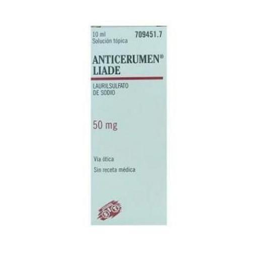Anticerumen Liade solución tópica 50 mg