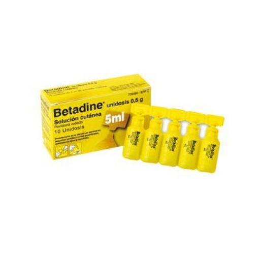 Betadine unidosis 0,5 g solución cutánea 10 unidosis