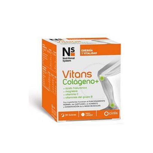 NS Vitans colágeno, ácido hialurónico, magnesio, vitamina C y vitaminas del grupo B Cinfa 30 sobres