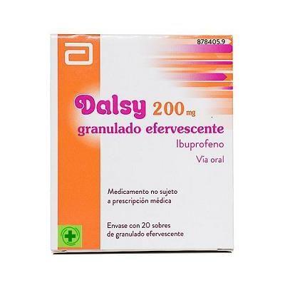 Dalsy 200 mg 20 cobres granulado efervescente