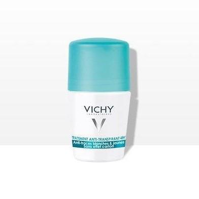 Desodorante anti-transpirante roll on anti manchas blancas y amarillas 48 horas Vichy