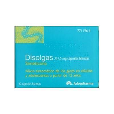 Disolgas 257,5 mg 32 cápsulas blandas