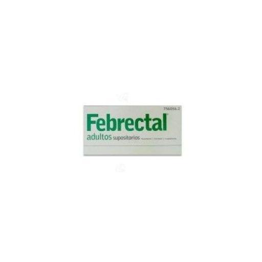 Febrectal adultos 600 mg 6 supositorios [0]
