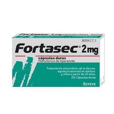Fortasec 2 mg  20 cápsulas duras