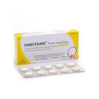Hibitane Forte 5 mg/5mg 20 comprimidos para chupar sabor limón