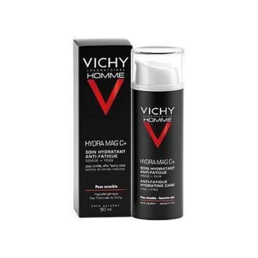 Tratamiento anti fatiga cara y ojos hombre Hydra Mag C+ Vichy 50 mL