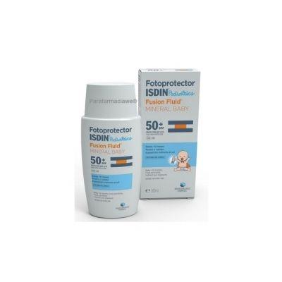 Fotoprotector ISDIN Pediatrics Fusion Fluid Mineral Baby SPF50+ 50 mL