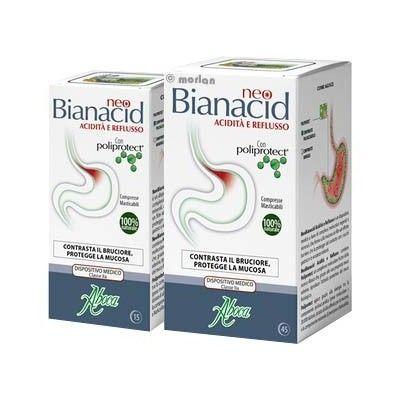 Neo Bianacid acidez y reflujo Aboca comprimidos masticables