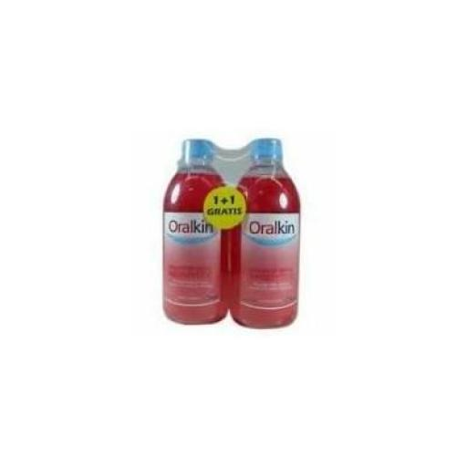 Duplo enjuague bucal Oralkin 500 mL + 500 mL