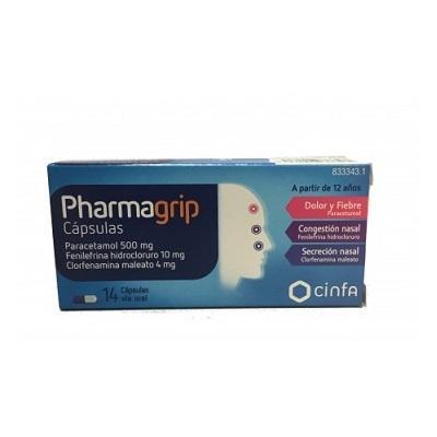 Pharmagrip 14 cápsulas duras