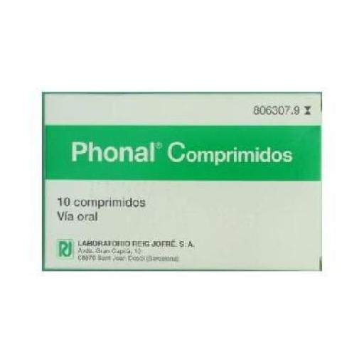 Phonal 10 comprimidos